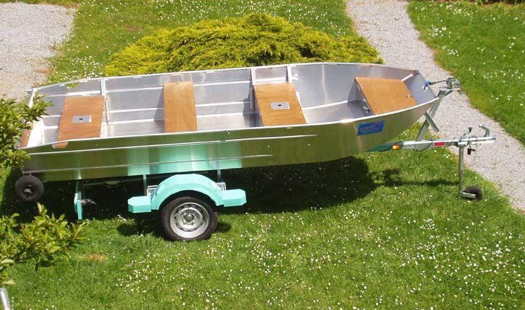 Aluminiumboot versenkbarer Bank (4)