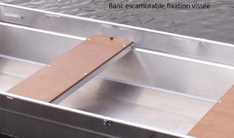 Aluminiumboot versenkbarer Bank (7)