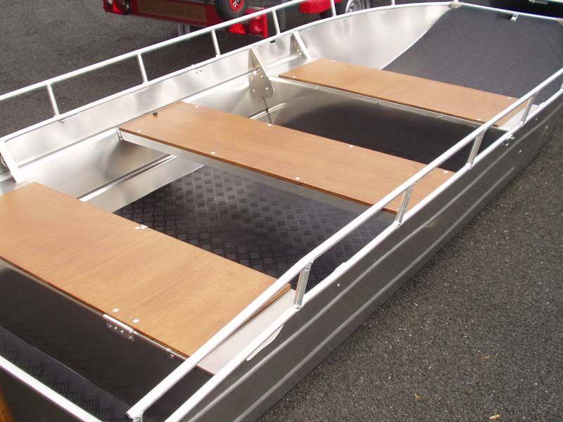 Aluminiumboot versenkbarer Bank (9)