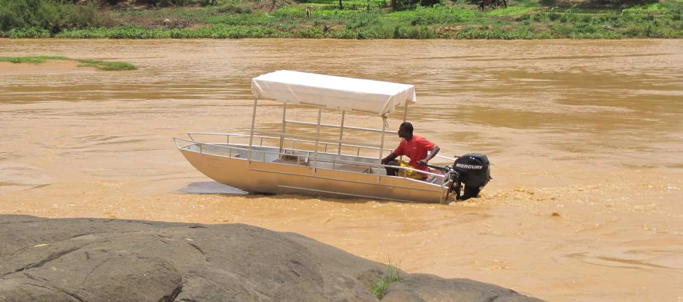 Aluminium-Fischerboot